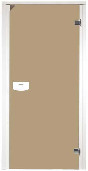 dveře s Alu rámem bronze