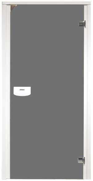 dveře s Alu rámem šedá